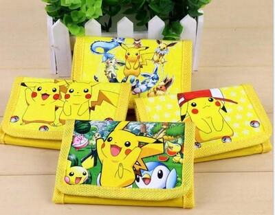 6 portafogli Pokemon portamonete gadget a tema fine festa compleanno bambini
