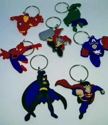 10 portachiavi Super-Eroi Avengers chiusura zip lampo zaino scuola