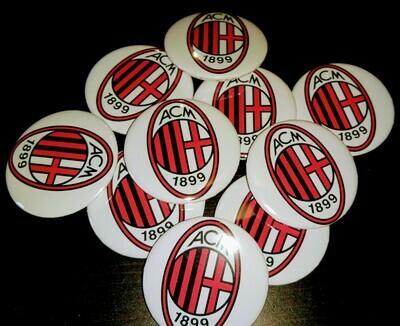 10 Spille 4.5cm zaino scuola personalizzabili Milan Squadra di Calcio Serie A