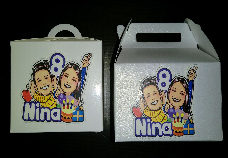 10 Scatoline personalizzabili Regalo porta Gadgets confetti Caramelle bomboniere