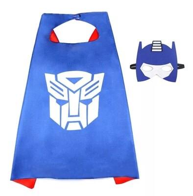 Set Maschera + Mantello costume Transformers travestimento Optimus Prime cosplay bambini