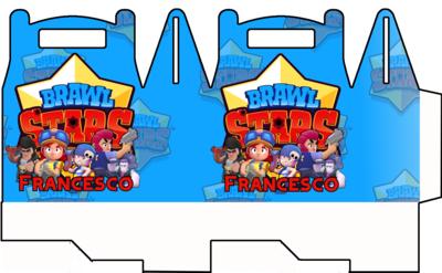 File digitale Scatoline Brawl Stars personalizzabili Regalo porta Gadgets confetti Caramelle bomboniere