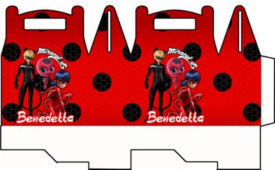 File digitale Scatoline Miraculous Ladybug personalizzabili Regalo porta Gadgets confetti Caramelle bomboniere