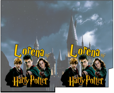 1 Porta Tovaglioli e Posate personalizzati Harry Potter addobbi feste di compleanno