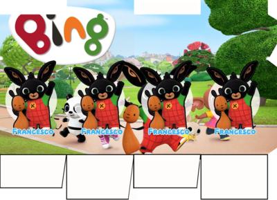 File digitale Scatolina Latte Bing box contenitore personalizzabile addobbi festa a tema fai da te