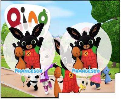File Digitale Porta Tovaglioli e Posate personalizzati Bing addobbi feste di compleanno