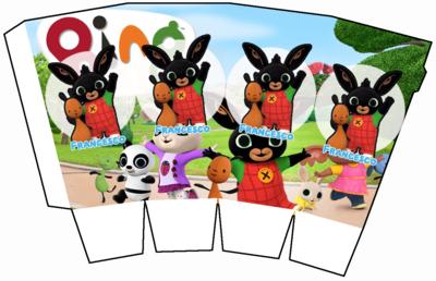 File digitale Scatolina Pop Corn Bing box contenitore personalizzabile addobbi festa a tema fai da te