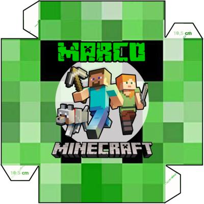 1 Piatto Minecraft personalizzabili addobbi festa compleanno a tema