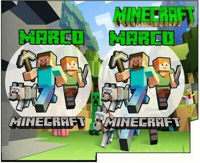 1 Porta Tovaglioli e Posate personalizzati Minecraft addobbi feste di compleanno