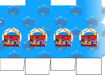 File digitale Scatolina Latte Brawl Stars box contenitore personalizzabile addobbi festa a tema fai da te