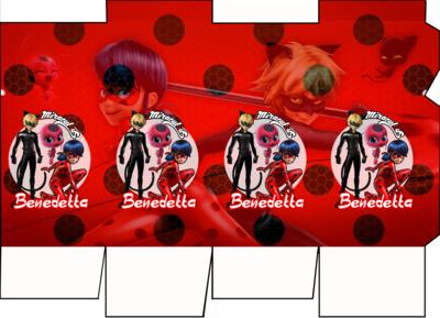 File digitale Scatolina Latte Miraculous Ladybug box contenitore personalizzabile addobbi festa a tema fai da te