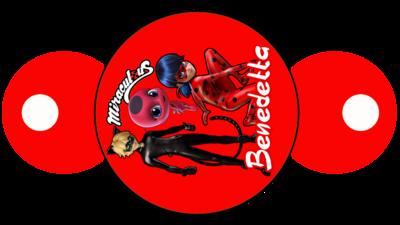 File digitale copri cannucce personalizzabili Miraculous Ladybug decorazioni festa a tema