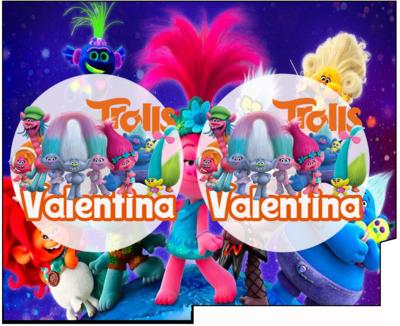 1 Porta Tovaglioli e Posate personalizzati Trolls addobbi feste di compleanno