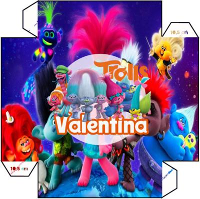 1 Piatto Trolls personalizzabili addobbi festa compleanno a tema