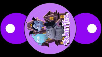 File digitale copri cannucce personalizzabili Vampirina decorazioni festa a tema
