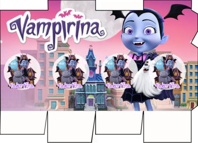 File digitale Scatolina Latte Vampirina box contenitore personalizzabile addobbi festa a tema fai da te