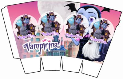 File digitale Scatolina Pop Corn Vampirina box contenitore personalizzabile addobbi festa a tema fai da te