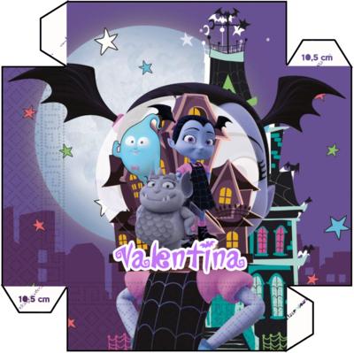File digitale Piatti Vampirina personalizzabili addobbi festa compleanno a tema