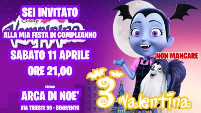 10 Biglietti inviti personalizzati festa compleanno bambini a tema Vampirina