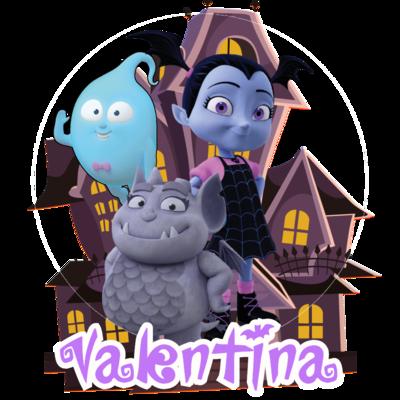 72 Adesivi Stickers Vampirina sagomati personalizzabili decorare festa a tema compleanno bambini