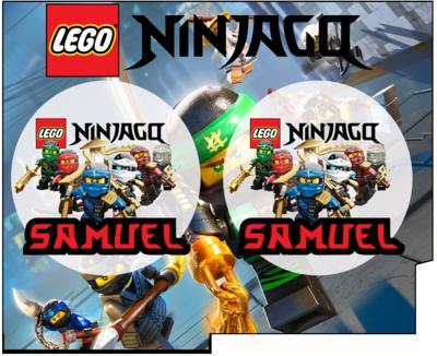 1 Porta Tovaglioli e Posate personalizzati Lego Ninjago addobbi feste di compleanno