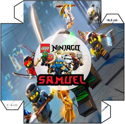 1 Piatto panino Lego Ninjago personalizzabili addobbi festa compleanno a tema
