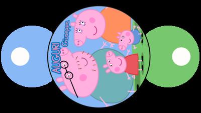File digitale copri cannucce personalizzabili Peppa Pig decorazioni festa a tema