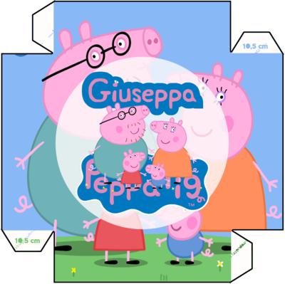 1 Piatto Peppa Pig personalizzabili addobbi festa compleanno a tema
