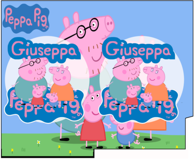 1 Porta Tovaglioli e Posate personalizzati Peppa Pig addobbi feste di compleanno