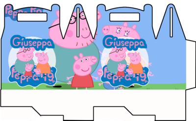 1 Scatolina Peppa Pig personalizzabili Regalo porta Gadgets confetti Caramelle bomboniere