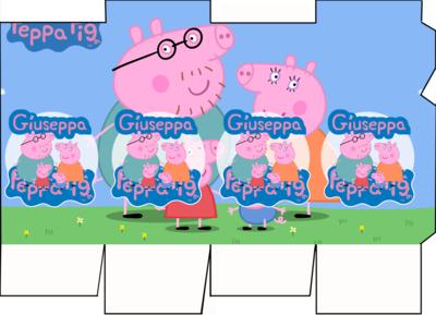 File digitale Scatolina Latte Peppa Pig box contenitore personalizzabile addobbi festa a tema fai da te