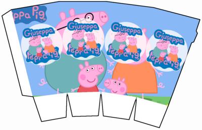 1 Scatolina Pop Corn Peppa Pig box contenitore personalizzabile addobbi festa a tema fai da te