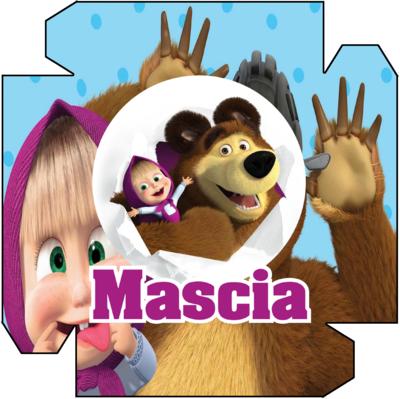 1 Piatto Masha e Orso personalizzabili addobbi festa compleanno a tema