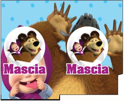 1 Porta Tovaglioli e Posate personalizzati Masha e Orso addobbi feste di compleanno