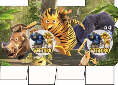File digitale Scatolina Latte Vita da Giungla box contenitore personalizzabile addobbi festa a tema fai da te