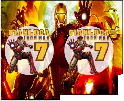 File Digitale Porta Tovaglioli e Posate personalizzati Ironman addobbi feste di compleanno