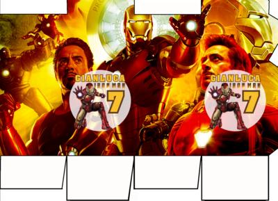 File digitale Scatolina Latte Ironman box contenitore personalizzabile addobbi festa a tema fai da te