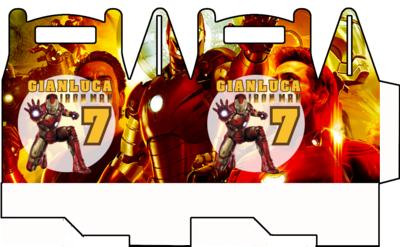 File digitale Scatoline Ironman personalizzabili Regalo porta Gadgets confetti Caramelle bomboniere