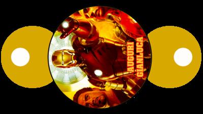 File digitale copri cannucce personalizzabili Ironman decorazioni festa a tema