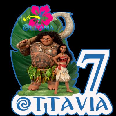 10 Adesivi Bicchieri Oceania sagomati personalizzabili decorare festa a tema compleanno bambini