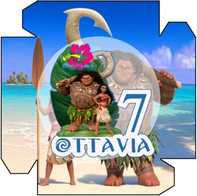 1 Piatto Oceania personalizzabili addobbi festa compleanno a tema