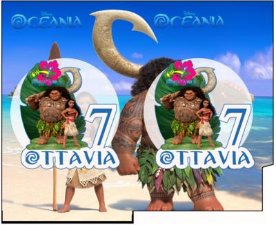 1 Porta Tovaglioli e Posate personalizzati Oceania addobbi feste di compleanno