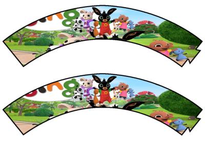 File digitale Wrapper Cupcake Bing personalizzabile addobbi festa a tema fai da te