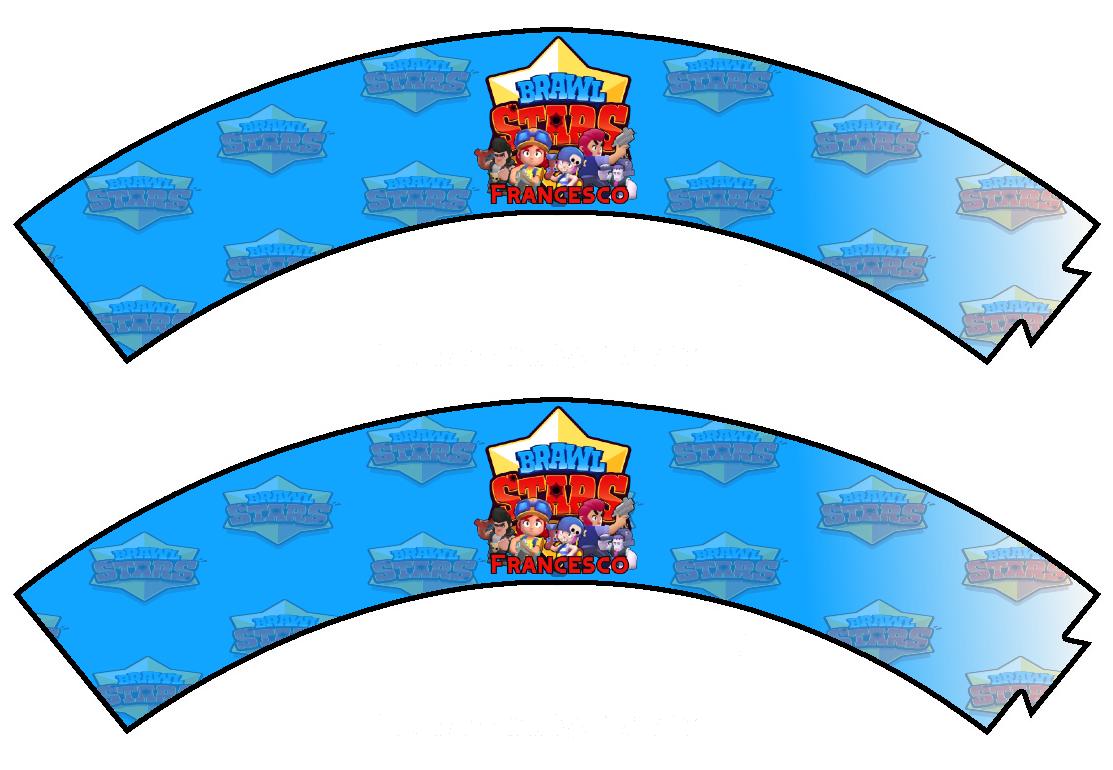 File digitale Wrapper Cupcake Brawl Stars personalizzabile addobbi festa a tema fai da te