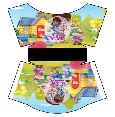 File digitale Scatolina patatine Mc Donald Dottoressa Peluche box contenitore personalizzabile addobbi festa a tema fai da te