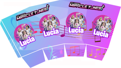 File digitale Scatolina Pop Corn Miracle Tunes box contenitore personalizzabile addobbi festa a tema fai da te
