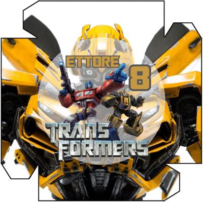 File digitale Piatti Transformers personalizzabili addobbi festa compleanno a tema