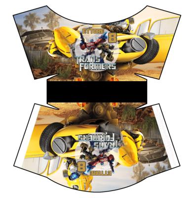 File digitale Scatolina patatine Mc Donald Transformers box contenitore personalizzabile addobbi festa a tema fai da te