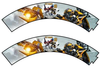 File digitale Wrapper Cupcake Transformers personalizzabile addobbi festa a tema fai da te