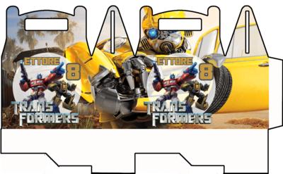 File digitale Scatoline Transformers personalizzabili Regalo porta Gadgets confetti Caramelle bomboniere
